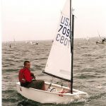 This picture was probably taken in Rockport, during a dark time of my sailing career when I just begun to figure out Optis but was unfortunately already too big.