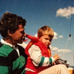 Team Taylor doing some extremely early Rhodes 19 sailing!