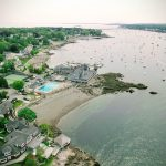 The Corinthian Yacht Club in Marblehead, MA via drone.