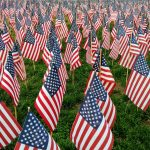 American flags, some 37,000 of them, honoring every fallen war hero from the Commonwealth since the Revolutionary War