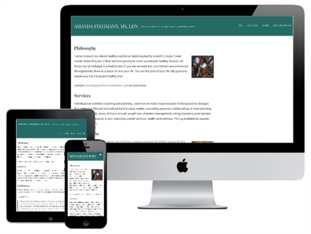 Amanda needed a site for her new business, so we delivered a customized WordPress theme.